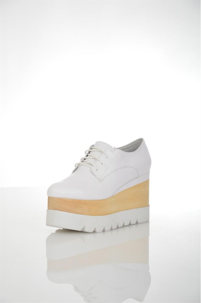 Ботинки JEFFREY CAMPBELLЖенская обувь<br>Состав: Телячья кожа<br> Детали: без аппликаций, одноцветное изделие, скругленный носок, резиновая подошва, танкетка<br> Каблук: 10 см<br> Высота платформы: 6.5 см<br> Страна: США<br><br>Высота каблука: 10 см<br>Высота платформы: 6.5 см<br>Материал: Натуральная кожа<br>Сезон: ВЕСНА/ОСЕНЬ<br>Коллекция: Весна-лето<br>Пол: Женский<br>Возраст: Взрослый<br>Цвет: Белый<br>Размер RU: 38