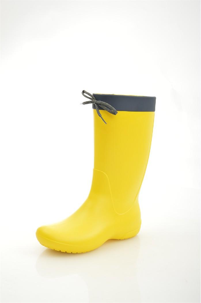 Резиновые сапоги CROCSЖенская обувь<br>Материал верха: croslite<br> Внутренний материал: без подкладки<br> Материал подошвы: искусственный материал<br> Материал стельки: текстиль<br> Высота голенища / задника: 28.5 см<br> Обхват голенища: 37 см<br> Сезон: демисезон<br> Цвет: желтый<br> <br> Страна бренда: США<br><br>Объем голени: 37 см<br>Высота голенища / задника: 27.5 см<br>Материал: Croslite<br>Сезон: ВЕСНА/ОСЕНЬ<br>Коллекция: Весна-лето<br>Пол: Женский<br>Возраст: Взрослый<br>Цвет: Желтый<br>Размер RU: 38