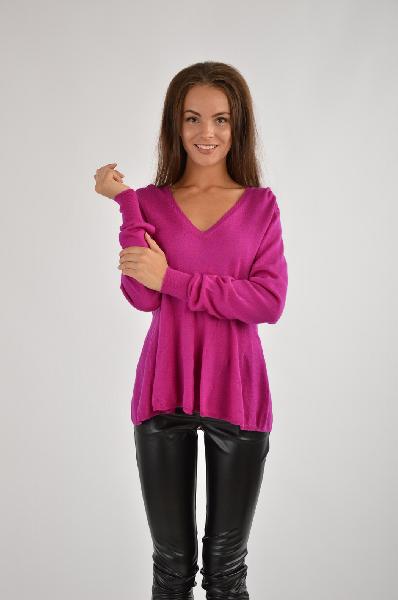 Свитер MIXMIXЖенская одежда<br>Описание: легкий свитер, сплошной цвет, v-образный вырез, длинные рукава, без карманов, без аппликаций<br><br> Материал: 100% шерсть<br>Страна: Италия<br><br>Материал: Шерсть<br>Сезон: ВЕСНА/ОСЕНЬ<br>Коллекция: Осень-зима<br>Пол: Женский<br>Возраст: Взрослый<br>Цвет: Пурпурный<br>Размер INT: M