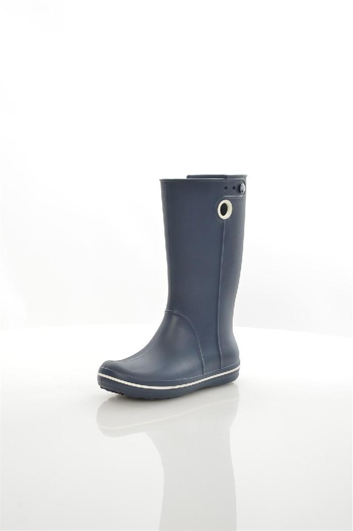 Резиновые сапоги CROCSЖенская обувь<br>Крослайт – натуральный материал, сделанный на основе вспененной смолы. Он легче и прочнее, чем резина, а, главное, под влиянием повышения температуры, принимает форму стопы, что исключает возможность натереть мозоль и позволяет носить кроксы на голую ногу.<br> <br> Цвет: темно-синий<br> Состав: croslite<br> <br> Высота платформы: Низкая: 1.3 см<br> Высота: Высокие<br> Материал верха: Искусственный материал<br> Материал подошвы: Искусственный материал<br> Материал подкладки обуви: Искусственный материал<br> Форма мыска: Закругленный мысок<br> Голенище: Высота голенища: 32 см; Обхват голенища: 46 см<br> Сезон: демисезон<br> Пол: Унисекс<br> Страна: Соединенные Штаты<br><br>Высота платформы: 1.3 см<br>Высота голенища / задника: 32 см<br>Материал: Croslite<br>Сезон: ВЕСНА/ОСЕНЬ<br>Коллекция: Весна-лето<br>Пол: Женский<br>Возраст: Взрослый<br>Цвет: Темно-синий<br>Размер RU: 38.5