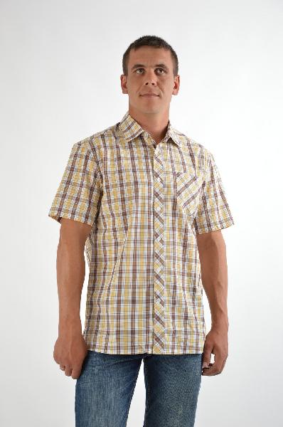 Рубашка Finn FlareРубашки, Поло<br>Цвет: желтый, белый, коричневый<br> <br> Состав: хлопок 100%<br> <br> Превосходная рубашка, выполненная из комфортного материала. Модель с застежкой на пуговицы снабжена короткими рукавами. Отличный вариант для мужского гардероба.<br> Вид застежки Пуговицы<br> Воротн...<br><br>Материал: Хлопок<br>Сезон: ЛЕТО<br>Коллекция: (Справочник &quot;Номенклатура&quot; (Общие)): Весна-лето<br>Пол: Мужской<br>Возраст: Взрослый<br>Цвет: Разноцветный<br>Размер INT: M