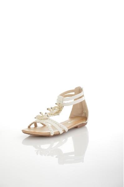 Сандалии AmazongaЖенская обувь<br>Цвет: белый<br> Состав: искусственная кожа<br> <br> Материал верха: Искусственная кожа<br> Материал стельки: Искусственная кожа: 100 %<br> Материал подошвы: Резина: 100 %<br> Высота каблука: Высота: 1 см<br> Материал подкладки: искусственная кожа: 100 %<br> Сезон: лето<br>...<br><br>Высота каблука: 1 см<br>Материал: Искусственная кожа<br>Сезон: ЛЕТО<br>Коллекция: (Справочник &quot;Номенклатура&quot; (Общие)): Весна-лето<br>Пол: Женский<br>Возраст: Взрослый<br>Цвет: Белый<br>Размер RU: 37