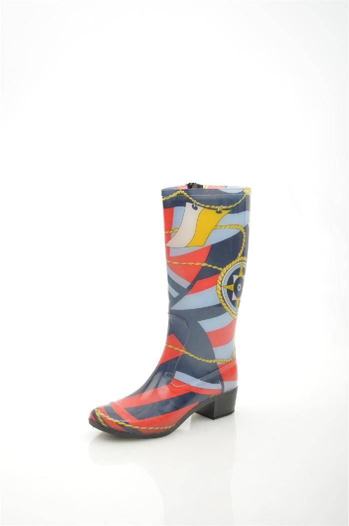 Резиновые сапоги КоролеваЖенская обувь<br>Цвет: темно-синий, красный<br> Состав: ПВХ 100%<br> <br> Материал подкладки: Текстиль<br> Обхват голенища: 40 см<br> Высота голенища: 38 см<br> Высота подошвы: 0.5 см<br> Высота каблука: 4 см<br> Материал подошвы: ПВХ<br> Материал стельки: искусственный материал<br> Сезон: демисезон<br> <br> <br>Страна бренда: Россия<br> Страна производитель: Китай<br><br>Высота каблука: 4 см<br>Высота платформы: 0.5 см<br>Объем голени: 40 см<br>Высота голенища / задника: 38 см<br>Материал: ПВХ<br>Сезон: ВЕСНА/ОСЕНЬ<br>Коллекция: Весна-лето<br>Пол: Женский<br>Возраст: Взрослый<br>Цвет: Разноцветный<br>Размер RU: 36
