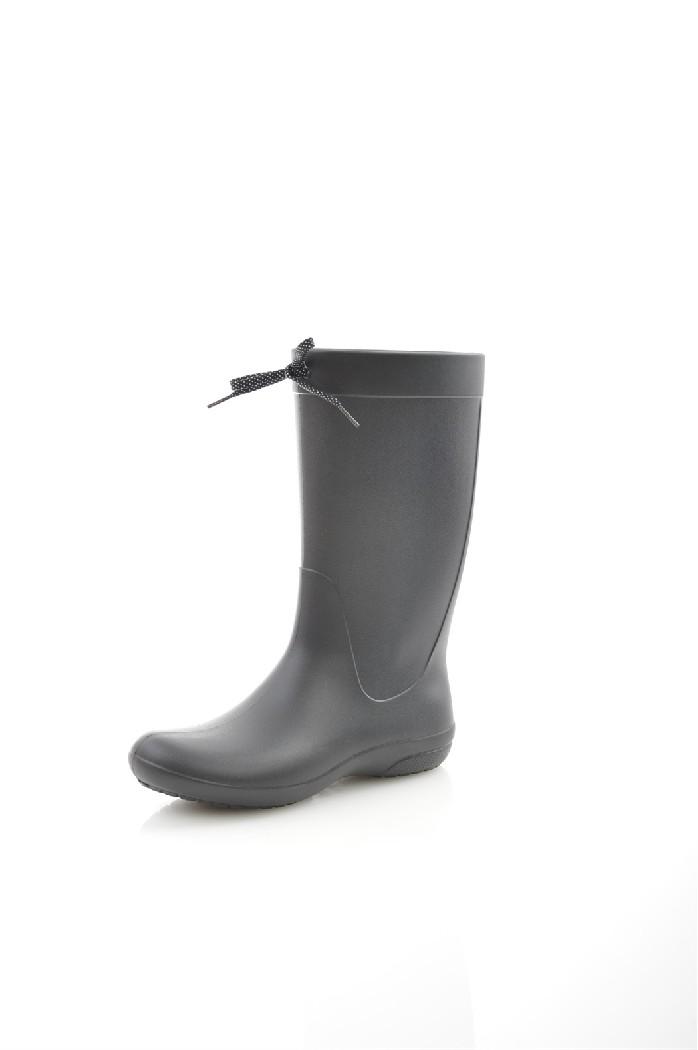 Резиновые сапоги CROCSЖенская обувь<br>Цвет: черный<br> Состав: croslite 100%<br> <br> Материал подкладки обуви: Без подкладки<br> Габариты предмета (см): высота подошвы: 1 см<br> Материал подошвы обуви: croslite<br> Материал стельки: текстиль<br> Сезон: демисезон<br> <br> Страна: Соединенные Штаты<br><br>Высота каблука: Без каблука<br>Высота платформы: 1 см<br>Материал: Croslite<br>Сезон: ВЕСНА/ОСЕНЬ<br>Коллекция: Весна-лето<br>Пол: Женский<br>Возраст: Взрослый<br>Цвет: Черный<br>Размер RU: 38