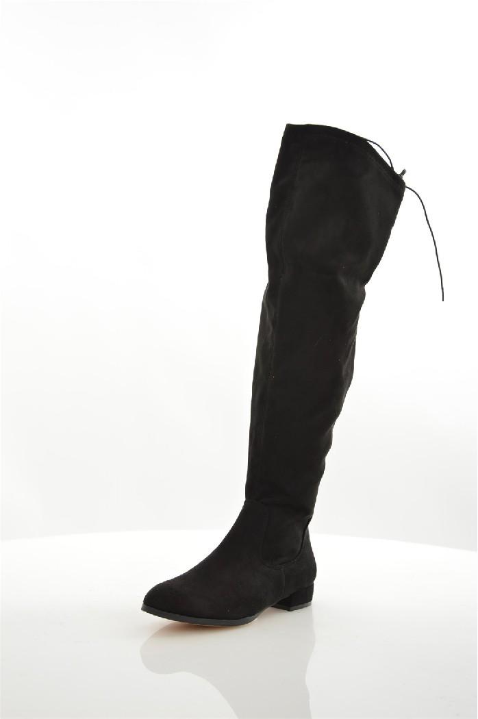 Ботфорты CORINAЖенская обувь<br>Детали: застежка на молнию, шнуровка на заднике.<br> <br> Материал верха искусственная замша<br> Внутренний материал текстиль<br> Материал стельки текстиль<br> Материал подошвы полимер<br> Высота голенища / задника 52 см<br> Высота каблука 2.5 см<br> Тип каблука Стандартный<br> Застежка на молнии<br> Цвет черный<br> Сезон Демисезон<br> Стиль Повседневный<br> Коллекция Осень-зима<br> Узор Однотонный<br> Высота каблука Низкий<br> Страна: Испания<br><br>Высота каблука: 2.5 см<br>Высота голенища / задника: 52 см<br>Материал: Искусственная замша<br>Сезон: ВЕСНА/ОСЕНЬ<br>Коллекция: Осень-зима<br>Пол: Женский<br>Возраст: Взрослый<br>Цвет: Черный<br>Размер RU: 38