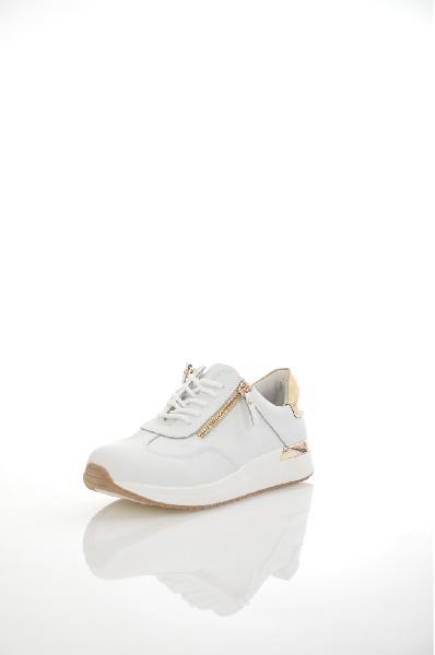 Кроссовки Palazzo DoroЖенская обувь<br>Кроссовки Palazzo Doro выполнены из натуральной кожи. <br><br>Детали: подкладка и стелька из натуральной кожи; застежка на молнии; шнуровка.<br> <br>Цвет: белый<br> Сезон: Лето<br> Коллекция: Весна-лето<br>Материал верха: натуральная кожа<br> Внутренний материал: натуральная кожа<br> Материал стельки: натуральная кожа<br> Материал подошвы: резина<br><br> Страна: Россия<br><br>Высота каблука: Без каблука<br>Материал: Натуральная кожа<br>Сезон: ЛЕТО<br>Коллекция: Весна-лето<br>Пол: Женский<br>Возраст: Взрослый<br>Цвет: Белый<br>Размер RU: 37