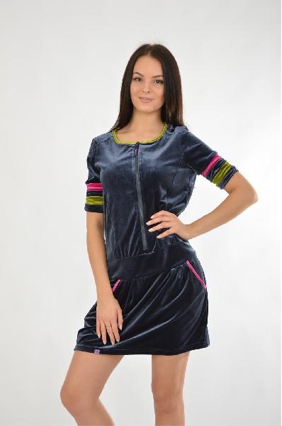 Платье NicClubЖенская одежда<br>Платье короткое на молнии. Модель выполнена из высококачественного материала приятной расцветки. Отличный вариант для повседневного использования.<br> <br> Цвет: темно-синий, зеленый, фуксия<br> <br> Состав: хлопок 53%, полиэстер 47%<br> <br> Вырез горловины Округлый...<br><br>Материал: Хлопок<br>Сезон: МУЛЬТИ<br>Коллекция: (Справочник &quot;Номенклатура&quot; (Общие)): Весна-лето<br>Пол: Женский<br>Возраст: Взрослый<br>Цвет: Синий<br>Размер INT: S