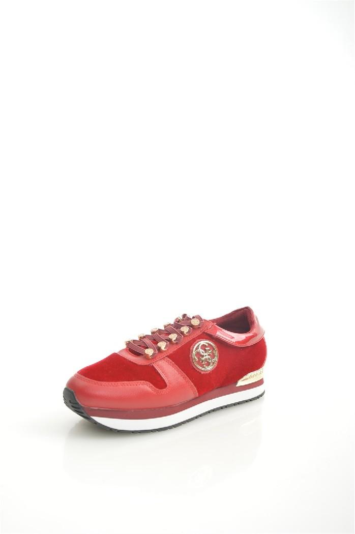 Кроссовки GUESSЖенская обувь<br>Цвет: красный<br> Состав: хлопок 100%<br> <br> Вид застежки: Шнуровка<br> Материал подкладки обуви: Текстиль<br> Материал подошвы обуви: резина<br> Материал стельки: текстиль<br> Сезон: демисезон<br> <br> Страна бренда: Соединенные Штаты<br> Страна производитель: Индонезия<br><br>Материал: Хлопок<br>Сезон: ВЕСНА/ОСЕНЬ<br>Коллекция: Весна-лето<br>Пол: Женский<br>Возраст: Взрослый<br>Цвет: Красный<br>Размер RU: 37
