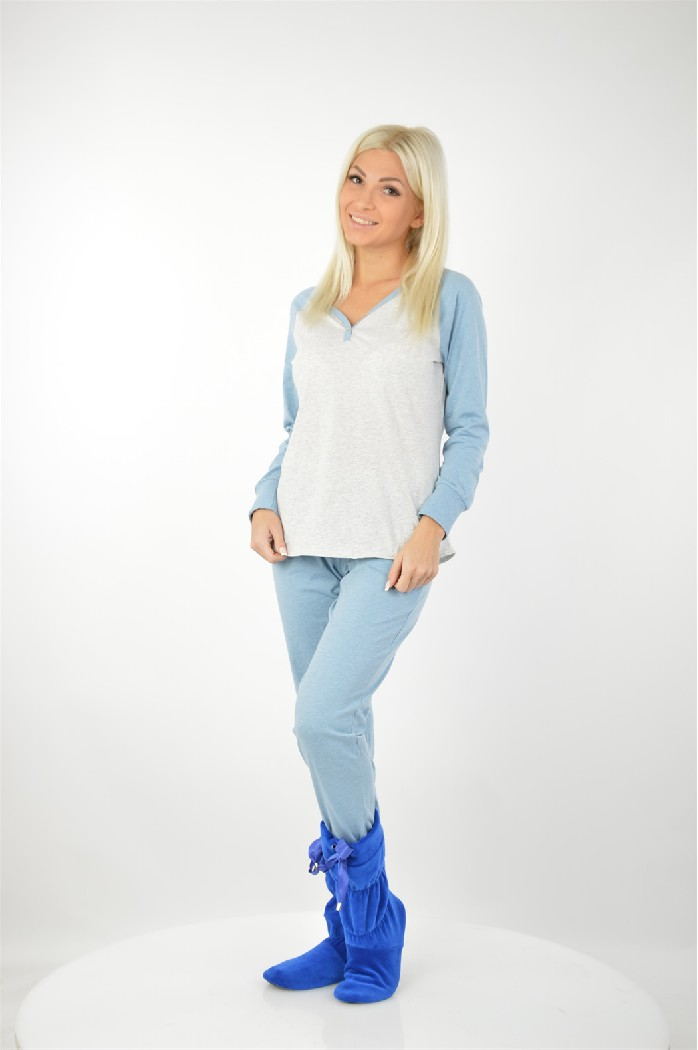 Пижама BUFFALOЖенская одежда<br>Контрастный V-образный вырез, небольшая планка с пуговицами. Длинные брюки с эластичной контрастной кулиской. <br> <br> Материал: материал верха: 100% хлопок<br> <br> Страна: Германия<br><br>Материал: Хлопок<br>Сезон: МУЛЬТИ<br>Коллекция: Весна-лето<br>Пол: Женский<br>Возраст: Взрослый<br>Цвет: Разноцветный<br>Размер INT: S