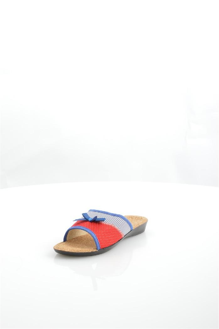 Тапочки BrisЖенская обувь<br>Модель дополнена окантовкой из искусственной замши. Подкладка изготовлена из текстиля, стелька - из пробки. Подошва из легкого полиуретана оснащена рифлением.<br> <br> Материал: Текстиль<br> <br> Страна: Россия<br><br>Материал: Текстиль<br>Сезон: МУЛЬТИ<br>Коллекция: Весна-лето<br>Пол: Женский<br>Возраст: Взрослый<br>Цвет: Разноцветный<br>Размер RU: 38