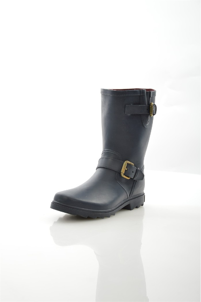 Резиновые сапоги Marc O`PoloЖенская обувь<br>Цвет: синий<br> Состав: резина 100%<br> <br> Вид застежки: Пряжка<br> Материал подкладки обуви: Текстиль<br> Габариты предмета: высота платформы; высота каблука: 3 см; высота подошвы: 2 см<br> Материал подошвы обуви: резина<br> Материал стельки: текстиль<br> Тип подошвы: протекторная<br> Сезон: демисезон<br> <br> Страна: Германия<br><br>Высота каблука: 3 см<br>Материал: Резина<br>Сезон: ВЕСНА/ОСЕНЬ<br>Коллекция: Весна-лето<br>Пол: Женский<br>Возраст: Взрослый<br>Цвет: Темно-синий<br>Размер RU: 38