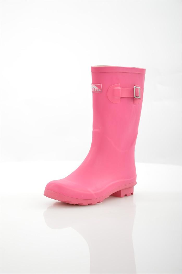 Сапоги TRESPASSЖенская обувь<br>Цвет: розовый<br> Материал верха: резина<br> Материал подкладки: текстиль<br> Материал стельки: текстиль<br> Материал подошвы: резина, рифленая<br> Сезон: весна-осень<br> Высота голенища: 25 см<br> Высота каблука: 3 см<br> Местоположение логотипа: стелька<br> Уход за изделием: протирать губкой<br> <br> Страна дизайна: Великобритания<br><br>Высота каблука: 3 см<br>Высота голенища / задника: 25 см<br>Материал: Резина<br>Сезон: ВЕСНА/ОСЕНЬ<br>Коллекция: Весна-лето<br>Пол: Женский<br>Возраст: Взрослый<br>Цвет: Розовый<br>Размер RU: 38