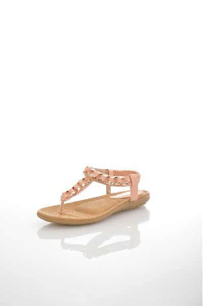 Сандалии AmazongaЖенская обувь<br>Цвет: персиковый<br> Состав: искусственная кожа<br> <br> Высота платформы: Низкая: 1 см<br> Материал верха: Искусственная кожа<br> Материал стельки: Искусственная кожа: 0 %<br> Материал подошвы: Резина: 0 %<br> Материал подкладки: Искусственная кожа; искусственная кожа: 100 %<br> Форма мыска: Закругленный мысок<br> Декоративные элементы: цепочки<br> Вид застежки: Эластичная вставка<br> Особенность материала верха: Матовый<br> Высота каблука: Высота: 1 см<br> Материал подошвы обуви: резина<br> Материал стельки обуви: искусственная кожа<br> Сезон: лето<br> Пол: Женский<br> Страна: Россия<br><br>Высота каблука: 1 см<br>Высота платформы: 1 см<br>Материал: Искусственная кожа<br>Сезон: ЛЕТО<br>Коллекция: Весна-лето<br>Пол: Женский<br>Возраст: Взрослый<br>Цвет: Бежевый<br>Размер RU: 38