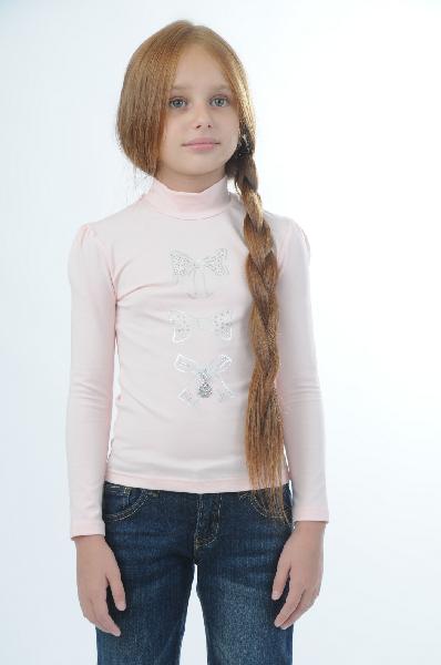 Водолазка VitacciОдежда для девочек<br>Цвет: бледно-розовый<br> <br> Состав: хлопок 95%, эластан 5%<br> <br> Симпатичная водолазка с воротником-стойкой и длинными рукавами. Изделие выполнено из комфортного материала. Декорирована модель принтом и стразами.<br> Длина рукава Длинные, 42.5 см<br> Воротник Воротник-стойка<br> Декоративные элементы Стразы<br> Габариты предметов Длина, 40.5 см<br> Фактура материала Трикотажный<br> Особенности ткани Мягкая<br> Сезон демисезон<br> Пол Девочки<br> Страна бренда Россия<br><br>Материал: Хлопок<br>Сезон: ВЕСНА/ОСЕНЬ<br>Коллекция: Осень-зима<br>Пол: Женский<br>Возраст: Детский<br>Цвет: Розовый<br>Размер Height: 116