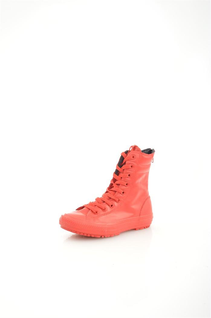 Кеды ConverseЖенская обувь<br>Цвет: красный<br> Материал верха: резина<br> Материал подкладки: текстиль<br> Материал стельки: текстиль<br> Материал подошвы: искусственный материал, рифленая<br> Сезон: весна-осень<br> Высота голенища: 16 см<br> Параметры изделия: 6,5/37-длина стельки - 23,5 см<br> <br> Страна дизайна: США<br> Страна производства: Вьетнам<br><br>Высота голенища / задника: 15 см<br>Материал: Резина<br>Сезон: ВЕСНА/ОСЕНЬ<br>Коллекция: Весна-лето<br>Пол: Женский<br>Возраст: Взрослый<br>Цвет: Красный<br>Размер RU: 37